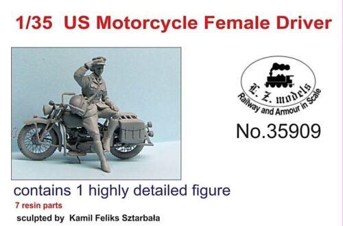 LZ MODELS US MOTORCYCLE FEMALE DRIVER SET1 Scala 1//35 Cod.35909