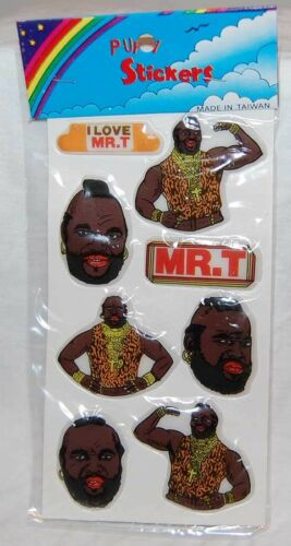 T Puffy Stickers Mint Sealed Television moc ver #1 /& #2 1980/'s A-Team // Mr