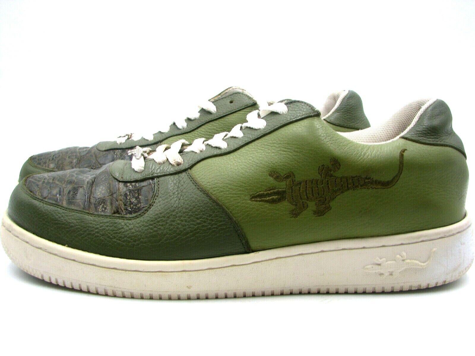 One Sneakers Alligator Green Men s