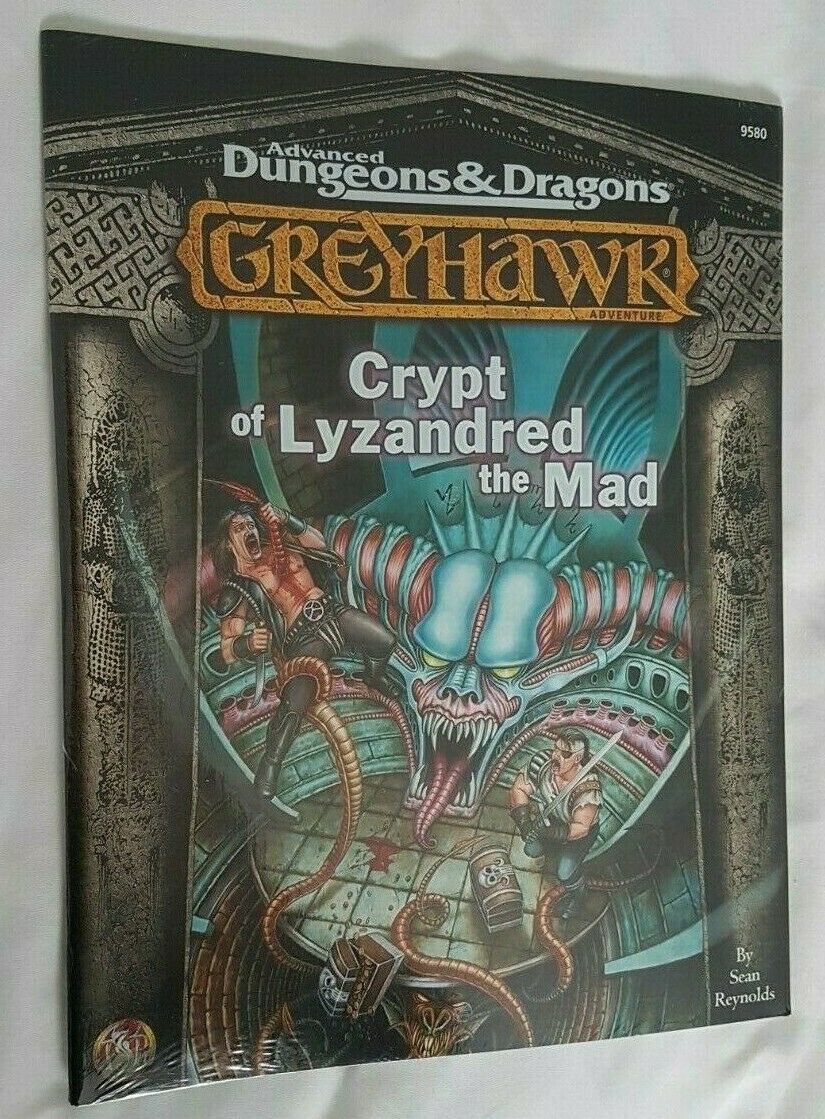 AD&D 2.5E 2nd Greyhawk Crypt of Lyzandred the Mad Sealed TSR 9580