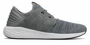 New-Balance-Male-Men-039-s-Fresh-Foam-Cruz-V2-Knit-Comfort-Adult-Grey-With-Grey