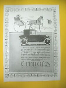 Publicite-de-Prensa-Citroen-5hp-Cabrio-Automovil-Hier-y-Hoy-1923