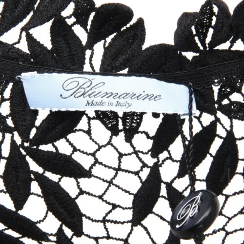 Blumarine Nero Pizzo T C4356 Maglia Donna shirt Woman IwtqqCE