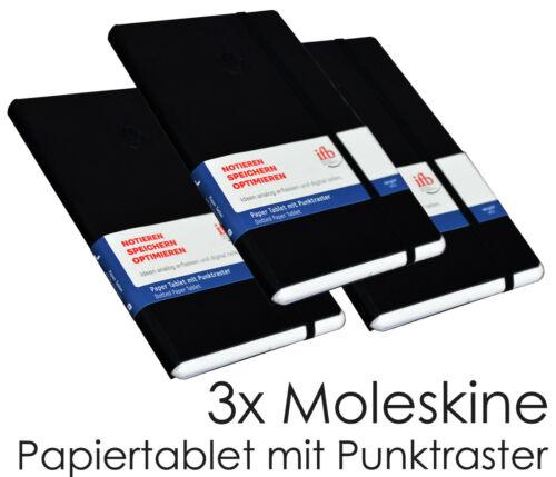 ELLIPSE SMART WRITING 3x DREI MOLESKINE HEFTE PUNKTRASTER PAPER TABLET FÜR PEN