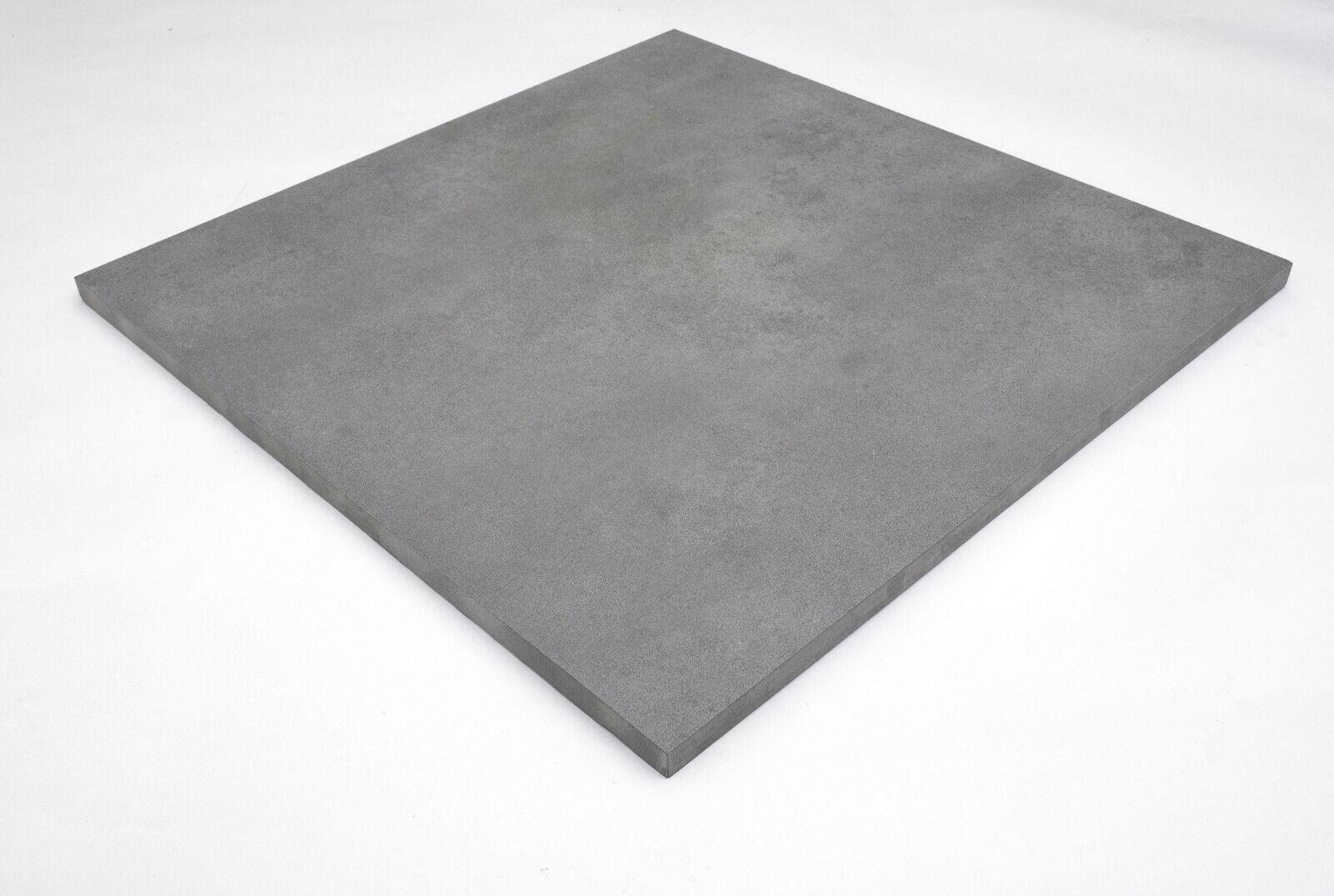 20 m² Terrassenplatten Grau 60x60cm Keramik Feinstein Stein Terrassenfliesen