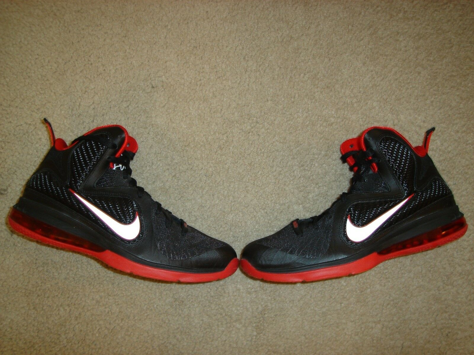Nike Lebron 9 IX Away Black Red White size 9.5 LA Lakers 469764 003