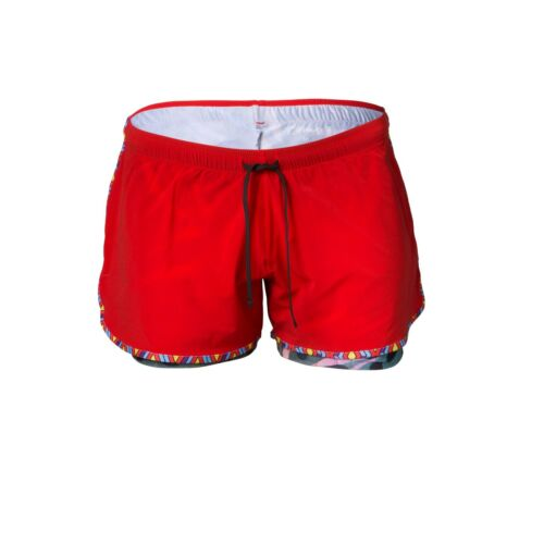 Lornah Sports DESTA Women's Performance Running Shorts Red NEW