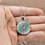 Flower-Photo-Cabochon-Glass-Tibetan-Silver-Chain-Round-Pendant-Necklace-Gift thumbnail 3