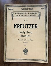 Rodolphe Kreutzer Forty-Two Studies Viola Learn to Play Music Book