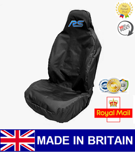 RS CAR SEAT COVER PROTECTOR SPORTS BUCKET HEAVY WATERPROOF Fits FORD FOCUS RS
