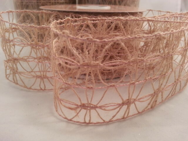 Cut Length Wired Edge Vintage Hessian Lace 50mm 70mm 100mm Ribbon Cake Floral