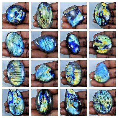 Natural Azul Multi Flash labradorita Cabujón piedra suelta para joyas H35b