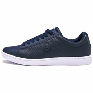e12d25faa Lacoste Carnaby EVO 317 3 SPW Women Trainers in Navy Blue 734SPW0008 ...
