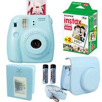 Fujifilm Instax Mini 8 Instant Camera (blue) + 20 Film + Case + Album Bundle Kit