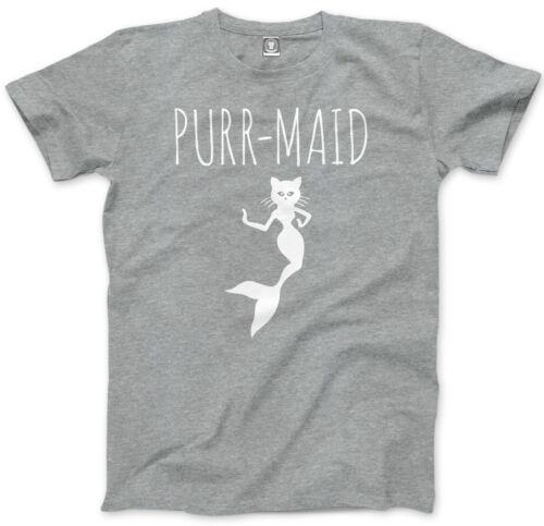 PurrMaid Cute Mermaid Kitty Mens Unisex T-Shirt