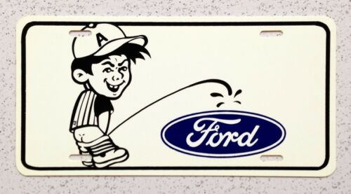 Plastic Bad Boy on Ford Retro Auto License Plate
