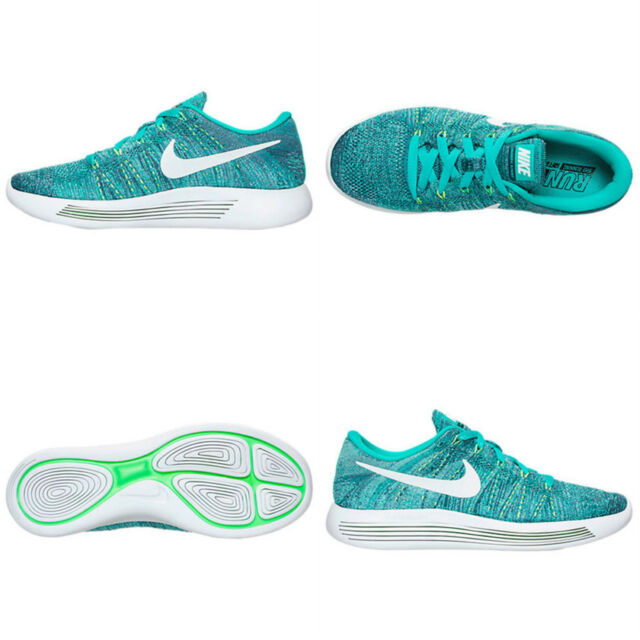 4e12cf376367 WMNS Nike Lunarepic Low Flyknit Green White Womens Running Shoes ...