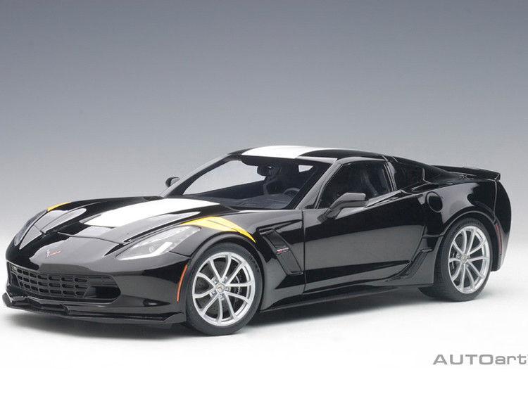 1/18 Autoart 71273 Chevrolet Corvette C7 Grand Sport (Nero / White