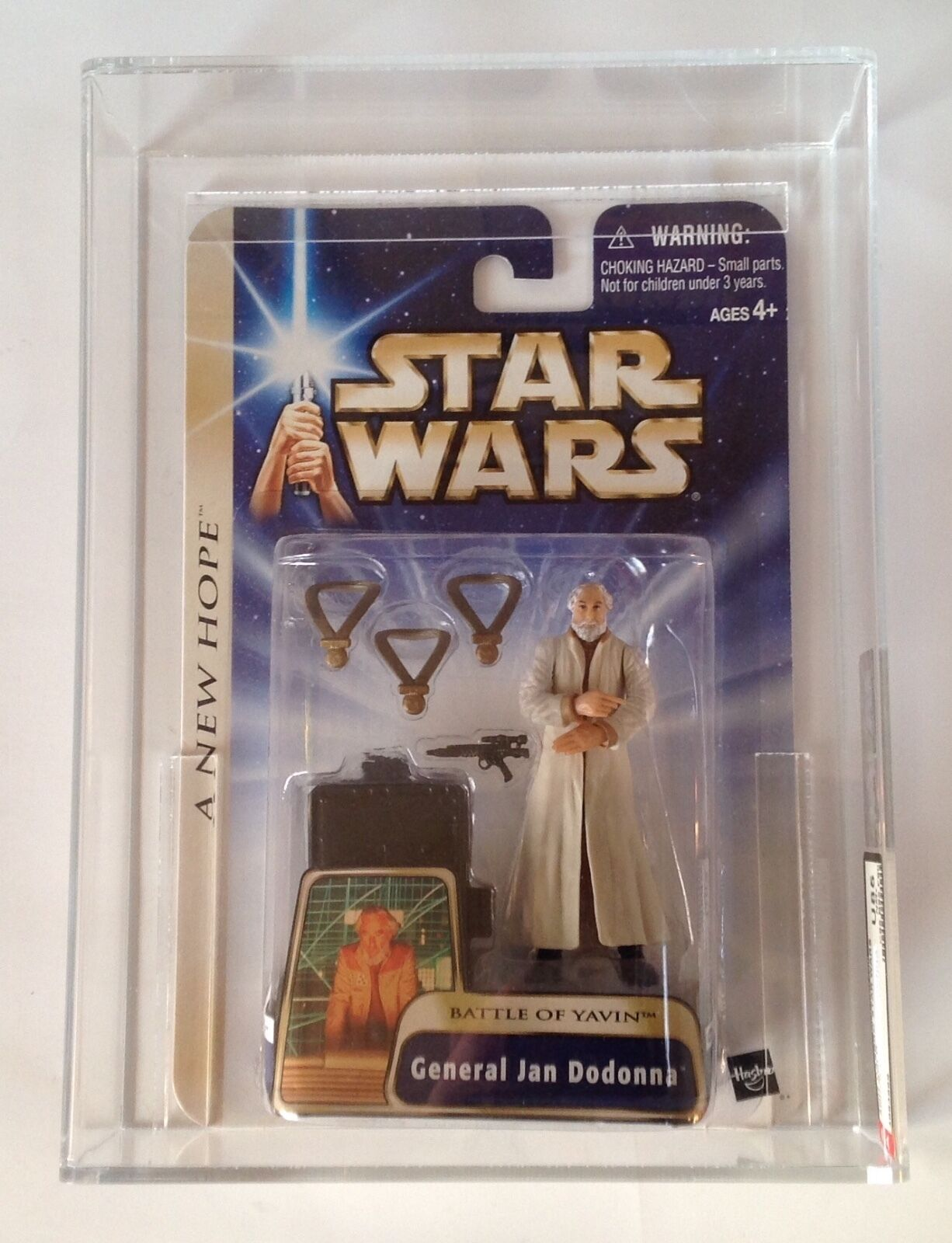 Star Wars A New Hope Gold General Jan Dodamen AFA U85 NM+ Hasbro 2004