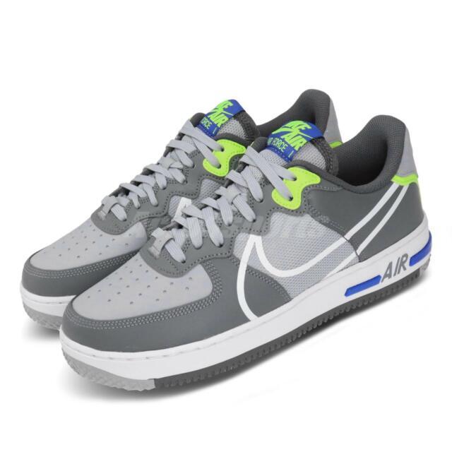Nike Air Force 1 React DMSX AF1 Wolf Grey White Blue Volt Men Shoes CD4366 002
