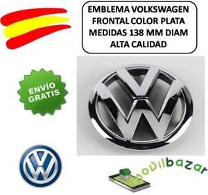 EMBLEMA-LOGO-VW-GRIS-PLATA-PARRILLA-VOLKSWAGEN-GOLF-GTI-6-138MM