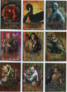 Hobbit-Desolation-of-Smaug-Character-Biography-Complete-9-Foil-Card-Chase-Set