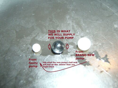 EX7 EP7 EP7GW WATER PUMP ULKA SERVICE KIT O-RING SEAL /& PYREX GLASS BALL UPGRADE