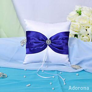 Royal-Blue-Satin-Bow-Ring-Bearer-Pillows-GB26c