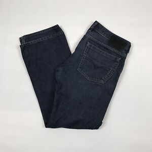 DIESEL-Zatiny-lavaggio-0088Z-Denim-Jeans-Taglia-34-034-Girovita-32-034-gamba-regolare-bootcut-blu