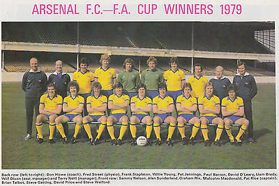 ARSENAL FOOTBALL TEAM PHOTO>1978-79 SEASON