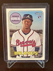 2018-Topps-Heritage-Ronald-Acuna-Rookie-Atlanta-Braves-RC-580-Mint-Centered