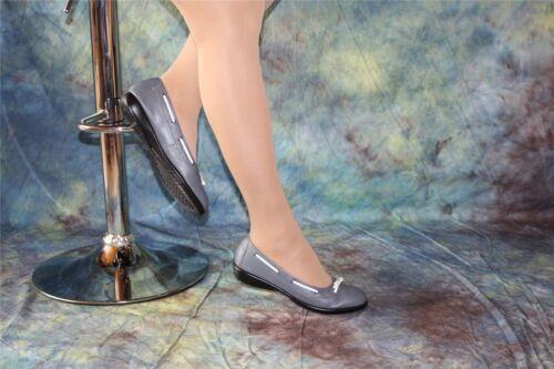 Confortable bovins Nappa pantoufles Ballerines Basalte-Gris