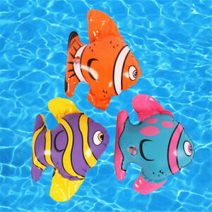 Details about 1PC Blow Up Inflatable Striped Fish Swimming Pool Beach Party  Kids Toy Gift Prop
