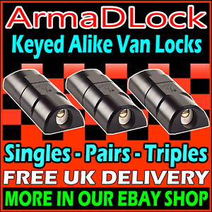 VW-Crafter-High-Security-ArmaDLock-Van-Side-Rear-Door-Hasp-Dead-Locks-Mul-T-Lock