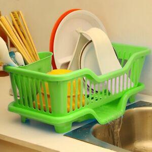Kitchen-Organiser-Sink-Dish-Plate-Utensil-Drainer-Drying-Rack-Holder-Basket-Box