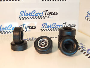 4 rear  URETHANE  Tyres   COX 1//24  Us New 4 front