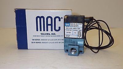 "MAC 36A-AAA-JDEA-1GA SOLENOID VALVE 1.8W 24V 120PSI PORTS 1, 2 & 3 1/8"" NPT NIB"