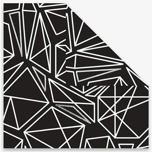 40 Origami Paper Printed Sheets Black White Christmas Decor Crafts 15x15cm 80g