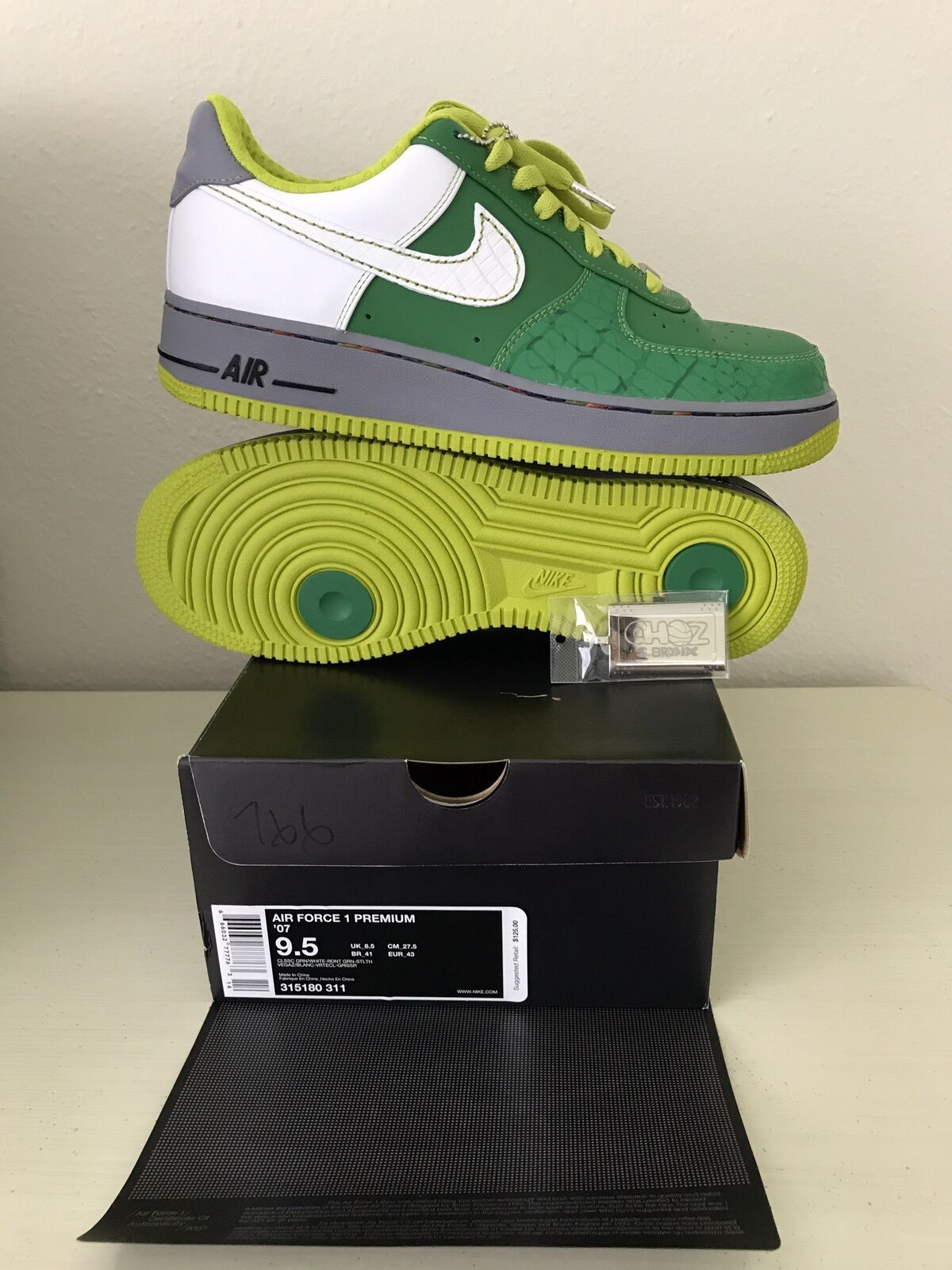 Nike Air Force 1 premium '07 9.5 Men 315180311 Classic Green Deadstock Great discount