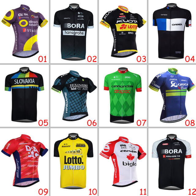 New Cool Mens Road Bike Bicycle Clothing Racing Jerseys Short Sleeve Shirts Tops