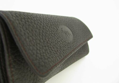"""MARTIN WESS GERMANY /""""SCANDINAVIAN ELK LEATHER/"""" ROLL UP TOBACCO POUCH LARGE"""