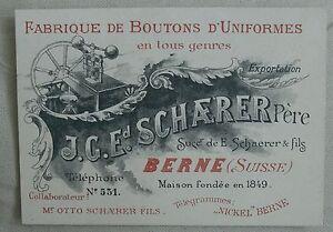 Image Is Loading SCHAERER Pere BOUTONS D 039 UNIFORMES BERNE Suisse