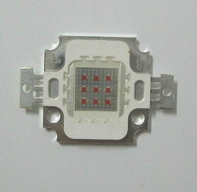 10W High Power Red LED Light Bulb 400lm 6.5-7.5V 610-640NM