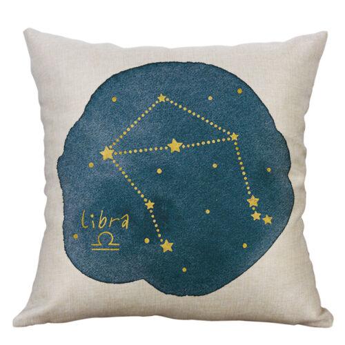 Douze Constellations Imprimer taies d/'oreiller en Coton Lin housse de coussin Home Decor
