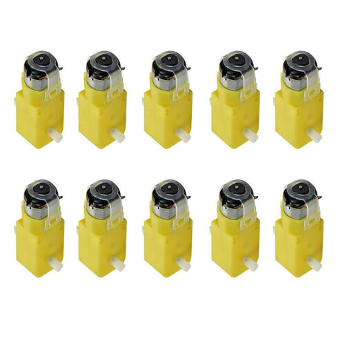 10x Set  TT Geared Car Gear Motor Dual Shaft DIY Gear for Arduino Car Replaces