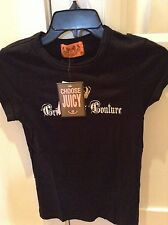 """Juicy couture NWT Black """"Crimes Of couture"""" T-Shirt"""