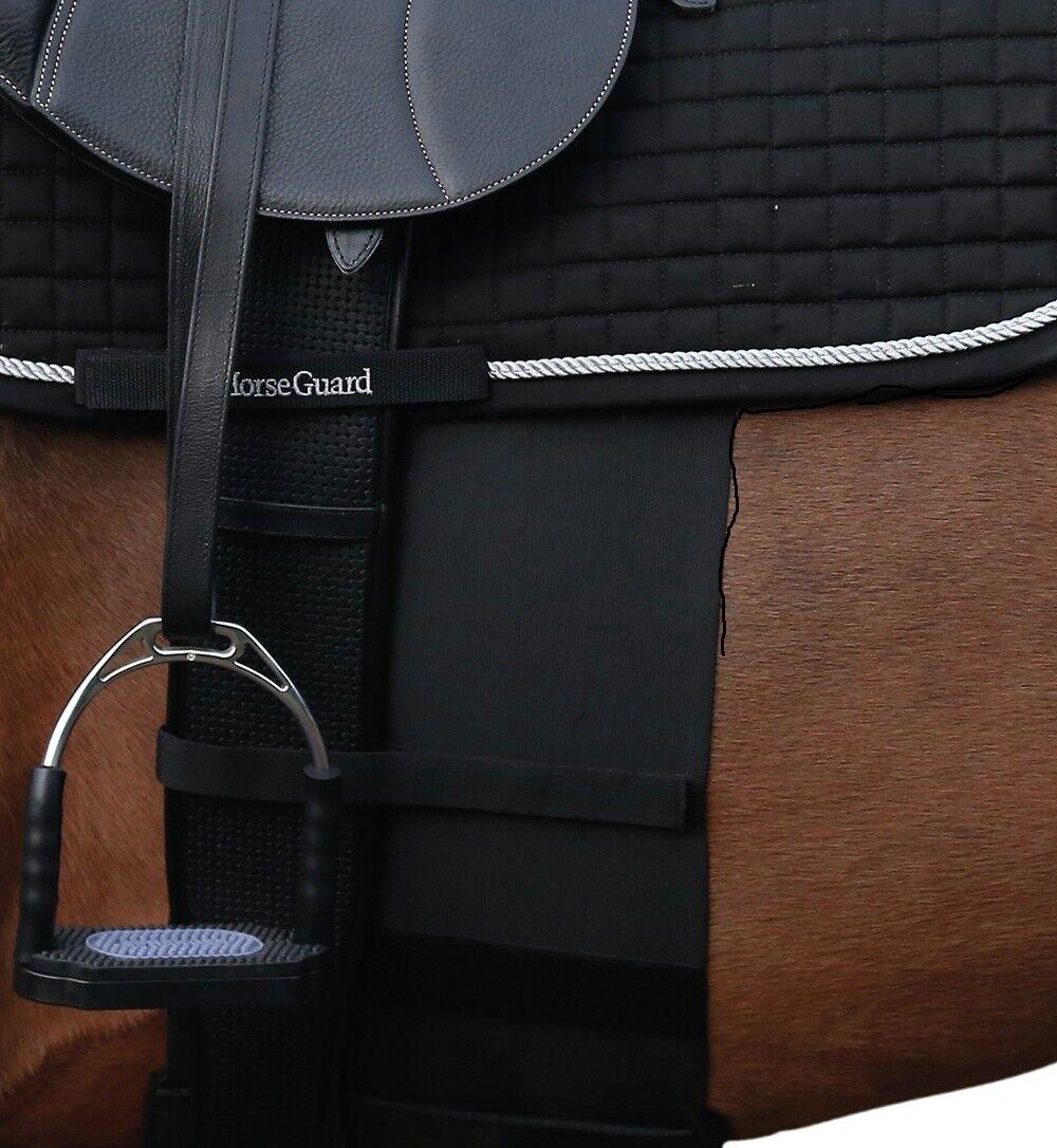 Three Horses HorseGuard Sporenschutzgurt schwarz elastischer Sporenschutz
