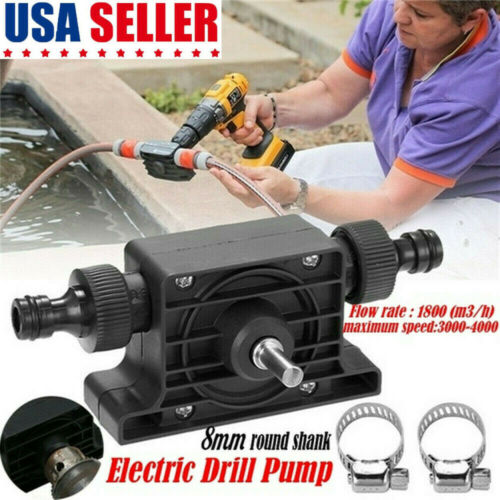 Portable Self-Priming Electric Drill Powered Water Pump Home Garden Courtyard US