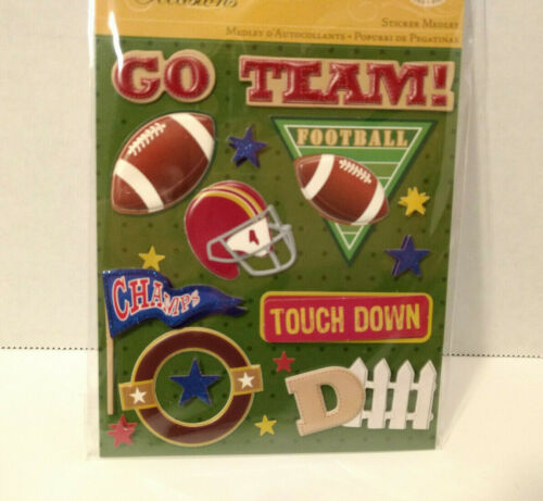 K/&Company Football Sticker Medley Life/'s Little Occasions Scrapbook Stickers NEW