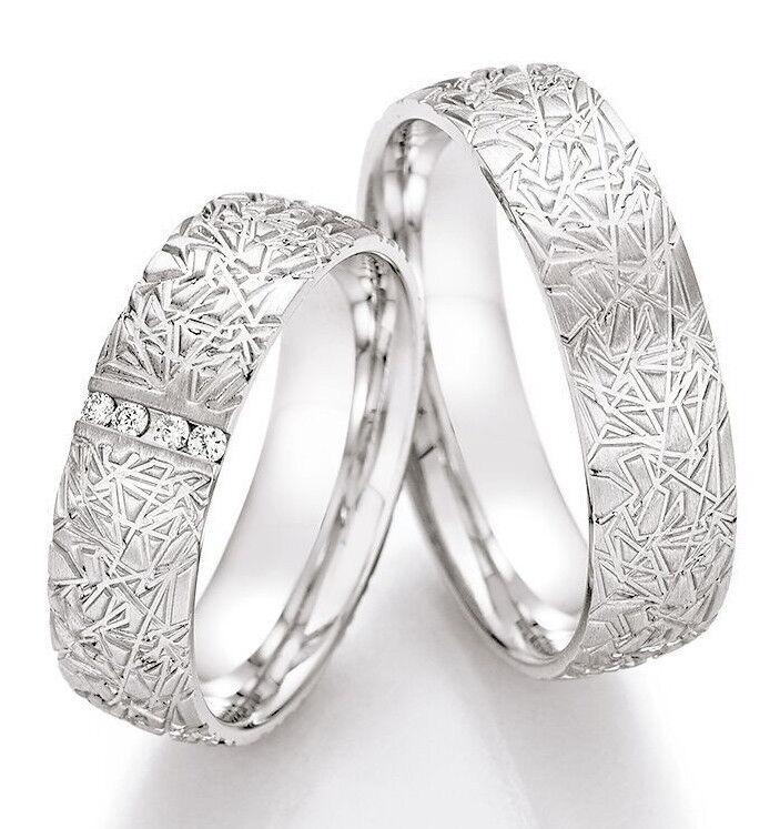 Ehering Ring Freundschaftsringe Partnerringe Verlobungsringe silver mit Brillant